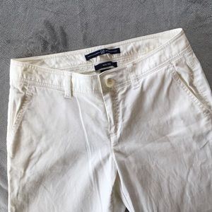 GAP Wide Leg White Corduroy Pants